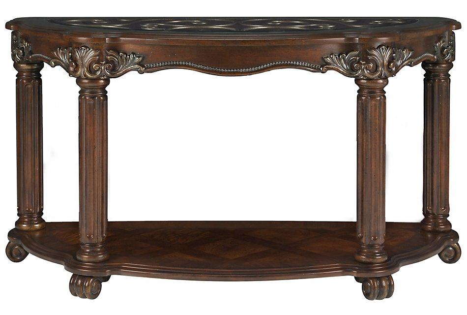 Regal Dark Tone Glass Sofa Table | Living Room - Sofa Tables ...