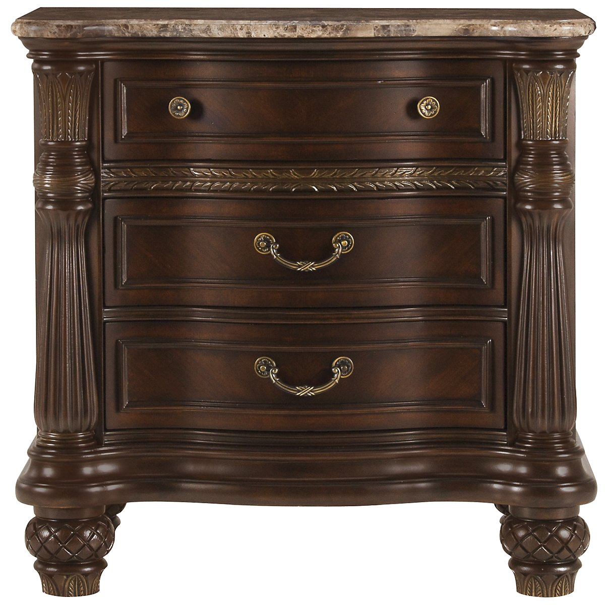 Tradewinds Dark Tone Marble Nightstand