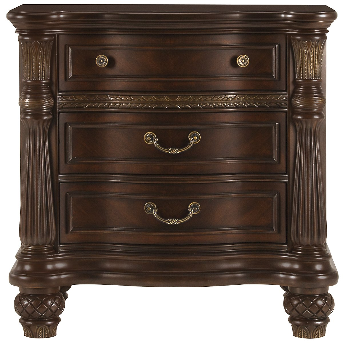 Tradewinds Dark Tone Wood Nightstand