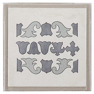 Louis 10 Gray Framed Wall Art