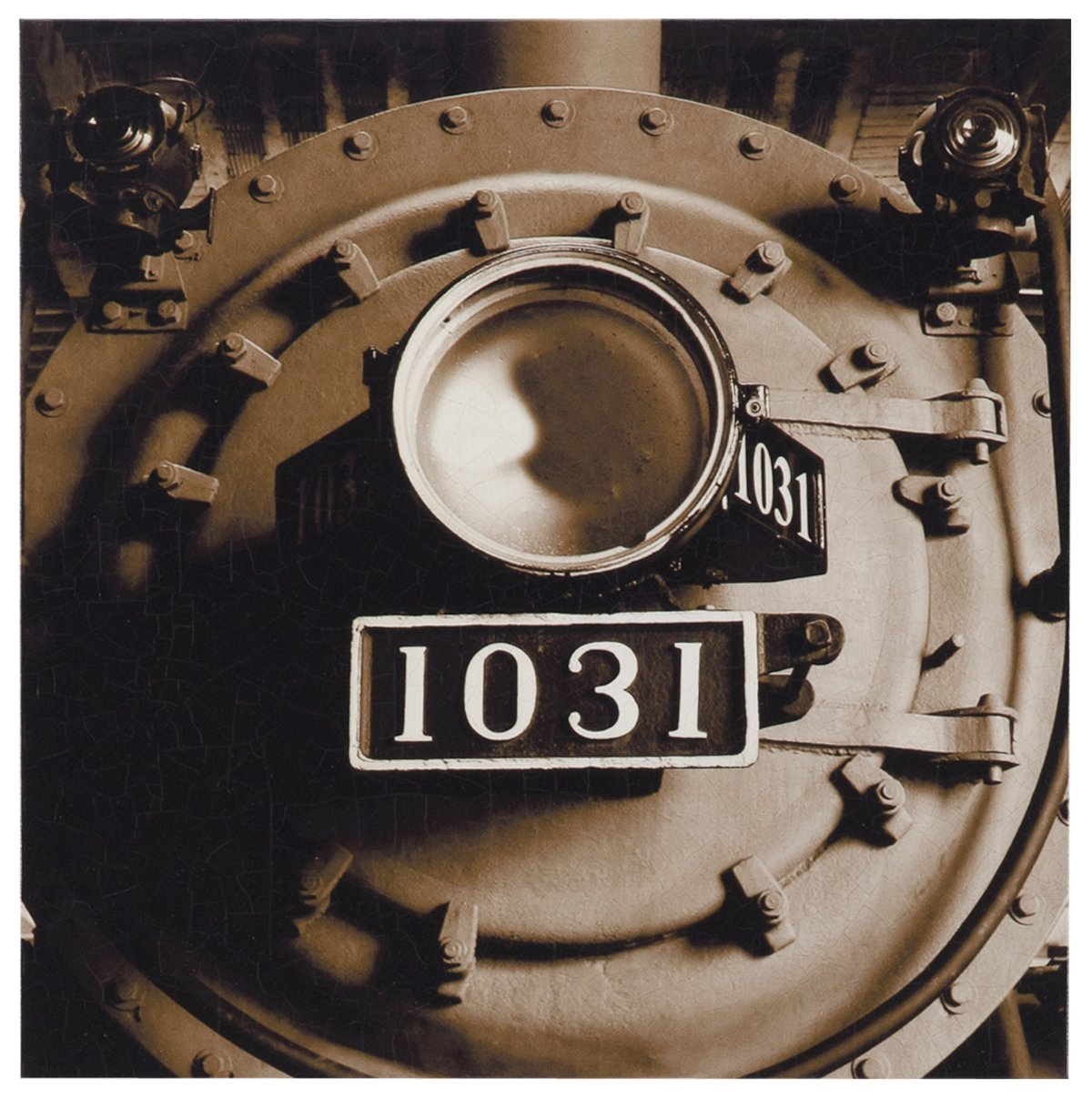 Train Front Canvas Wall Art
