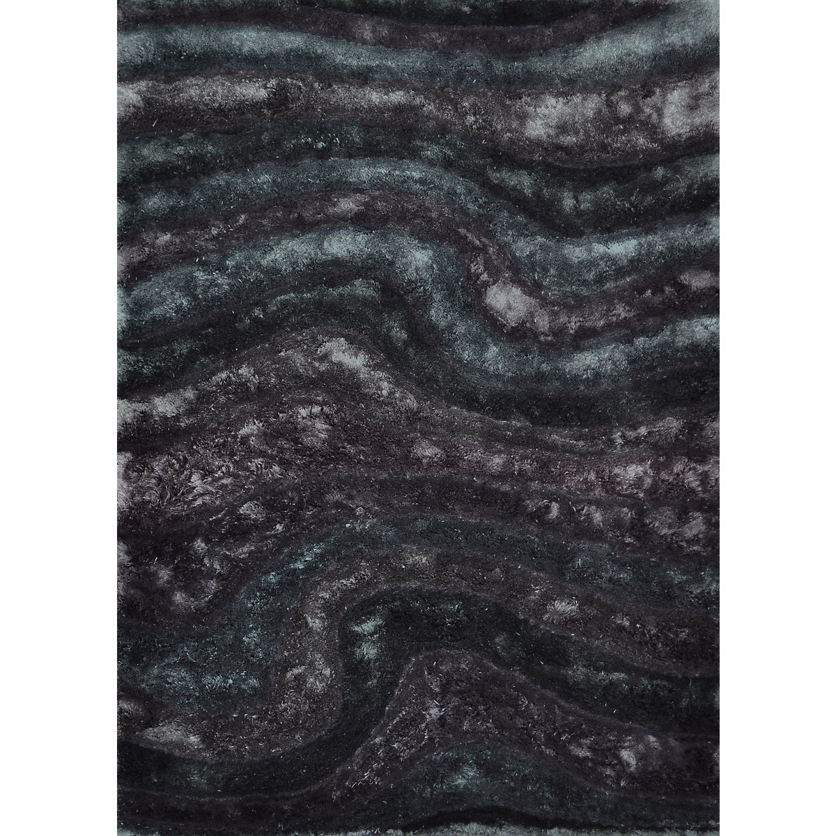 Midnight Multicolored Poly 5x8 Area Rug