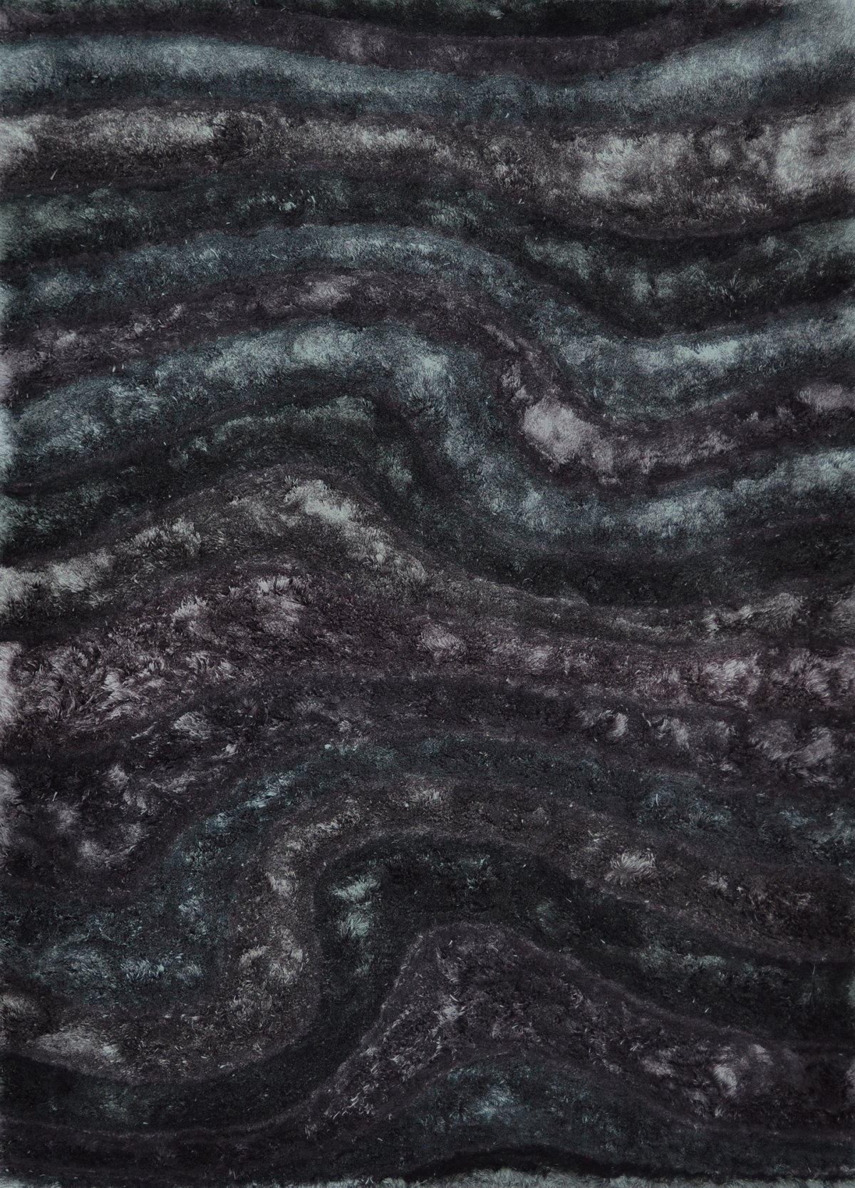 Midnight Multicolored Poly 8x11 Area Rug