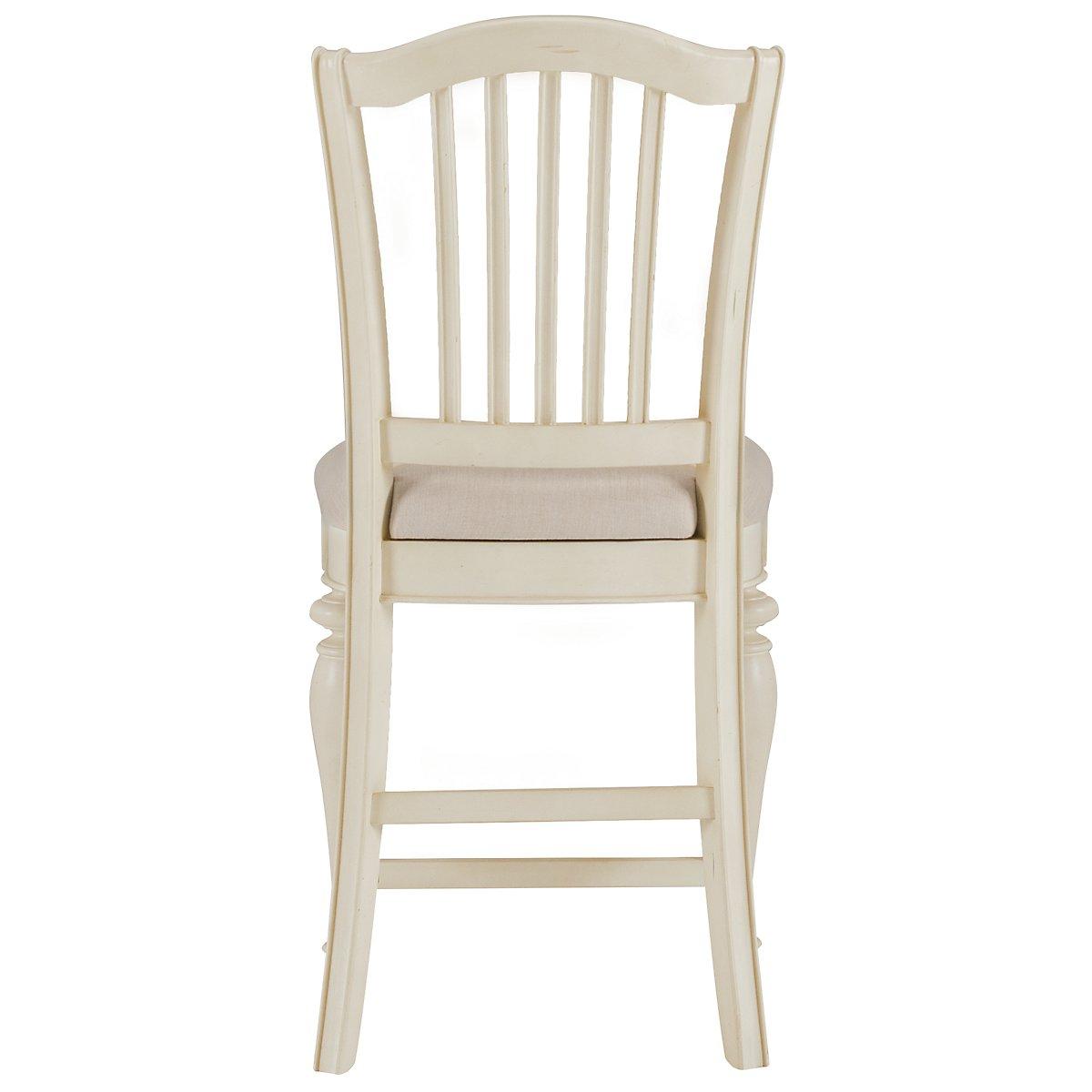 "Coventry White 24"" Wood Barstool"