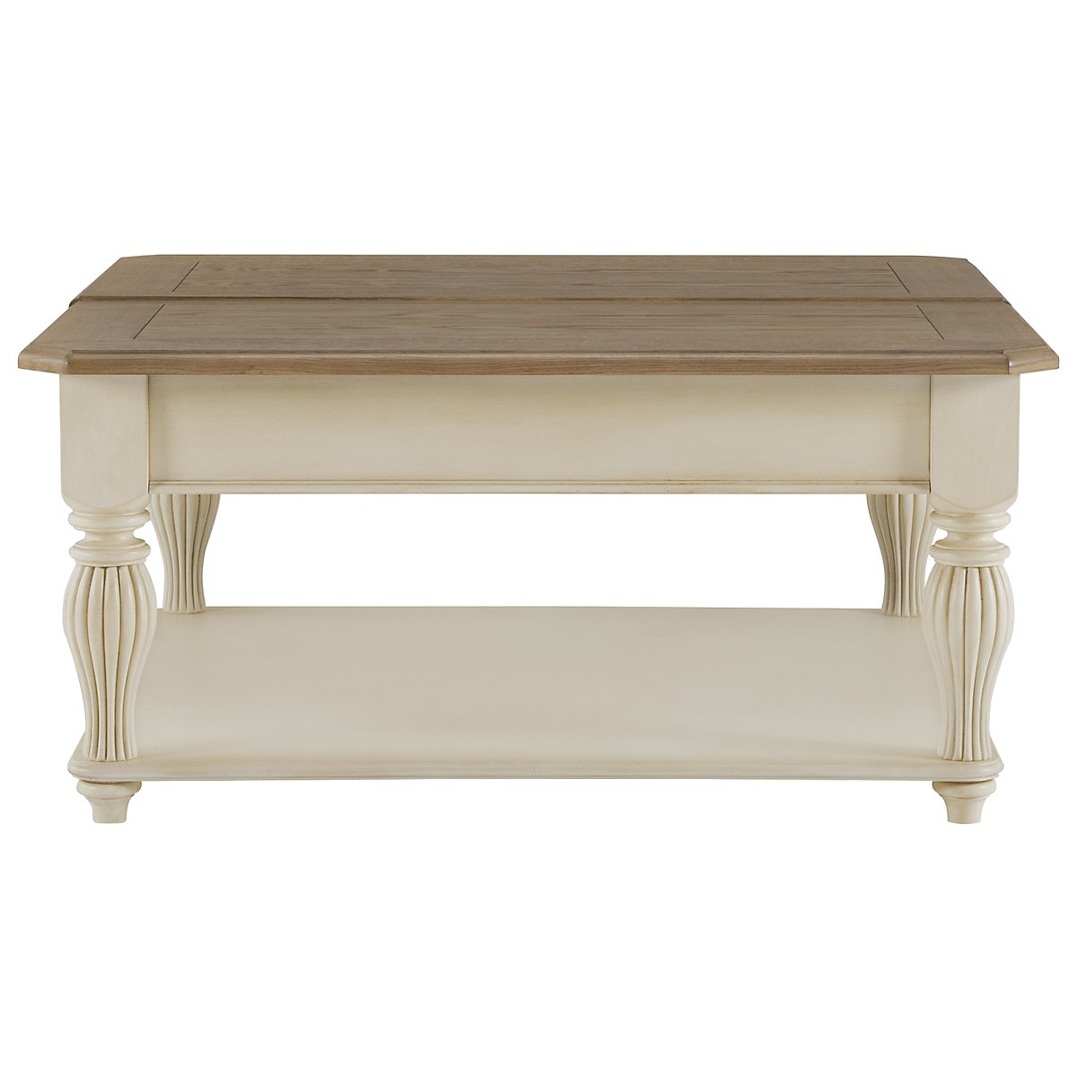 Coventry Two-Tone Lift-Top Square Coffee Table
