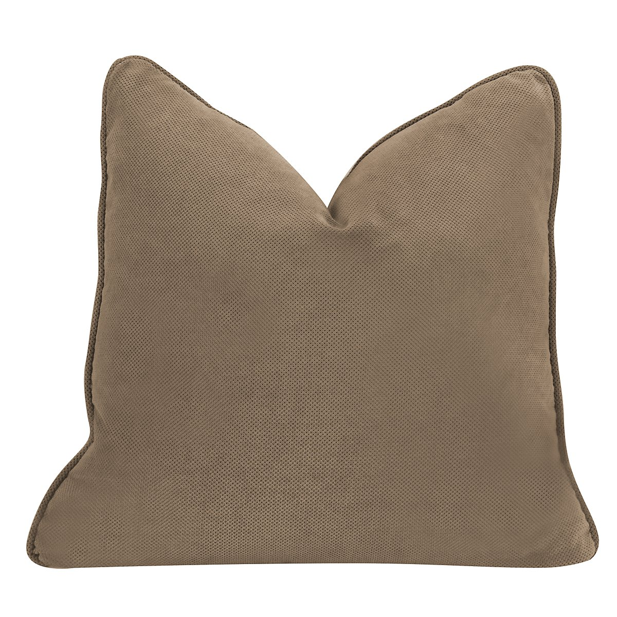 Express3 Light Brown Microfiber Square Accent Pillow