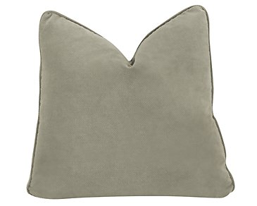 Express3 Light Green Microfiber Square Accent Pillow