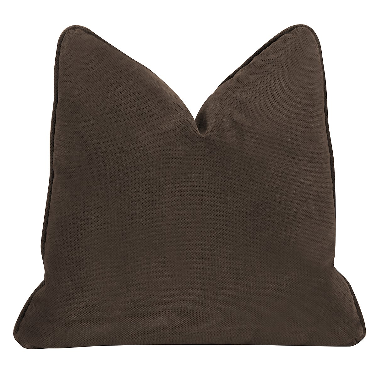 Express3 Dark Brown Microfiber Square Accent Pillow
