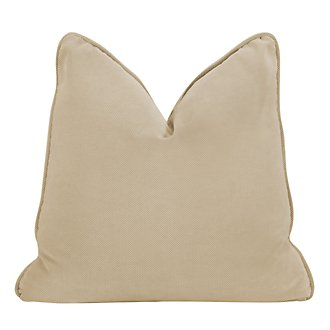 Express3 Light Beige Microfiber Square Accent Pillow