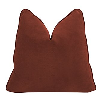 Express3 Red Microfiber Square Accent Pillow