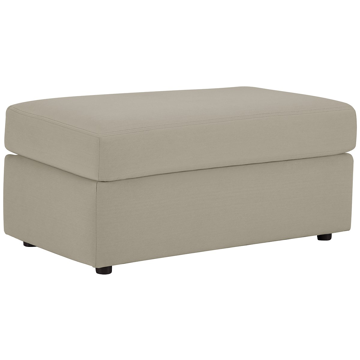 Dakota Pewter Cotton Ottoman