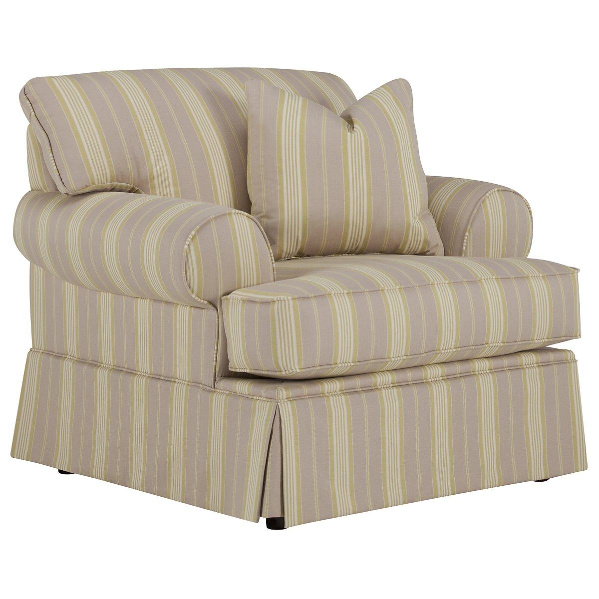 Jolie Light Green Stripe Chair