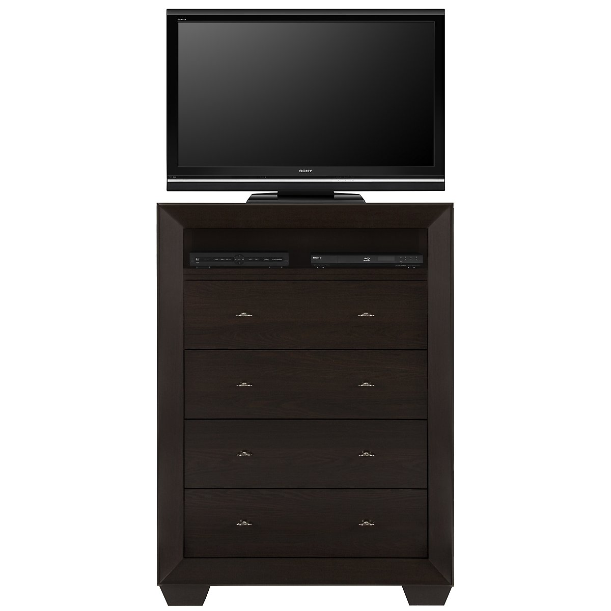 City Furniture: Adele2 Dark Tone Large Media Chest