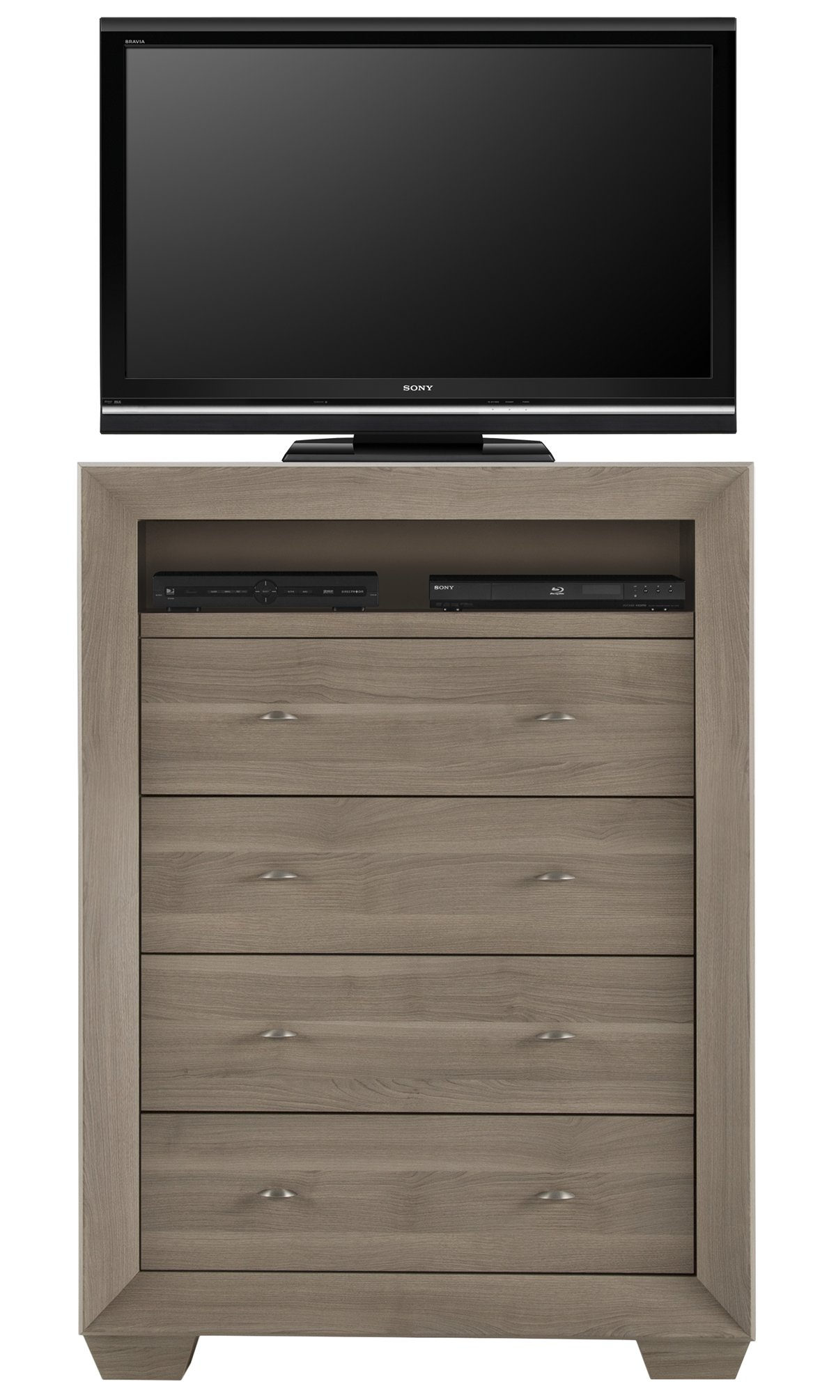 city furniture: adele2 light tone large media chest