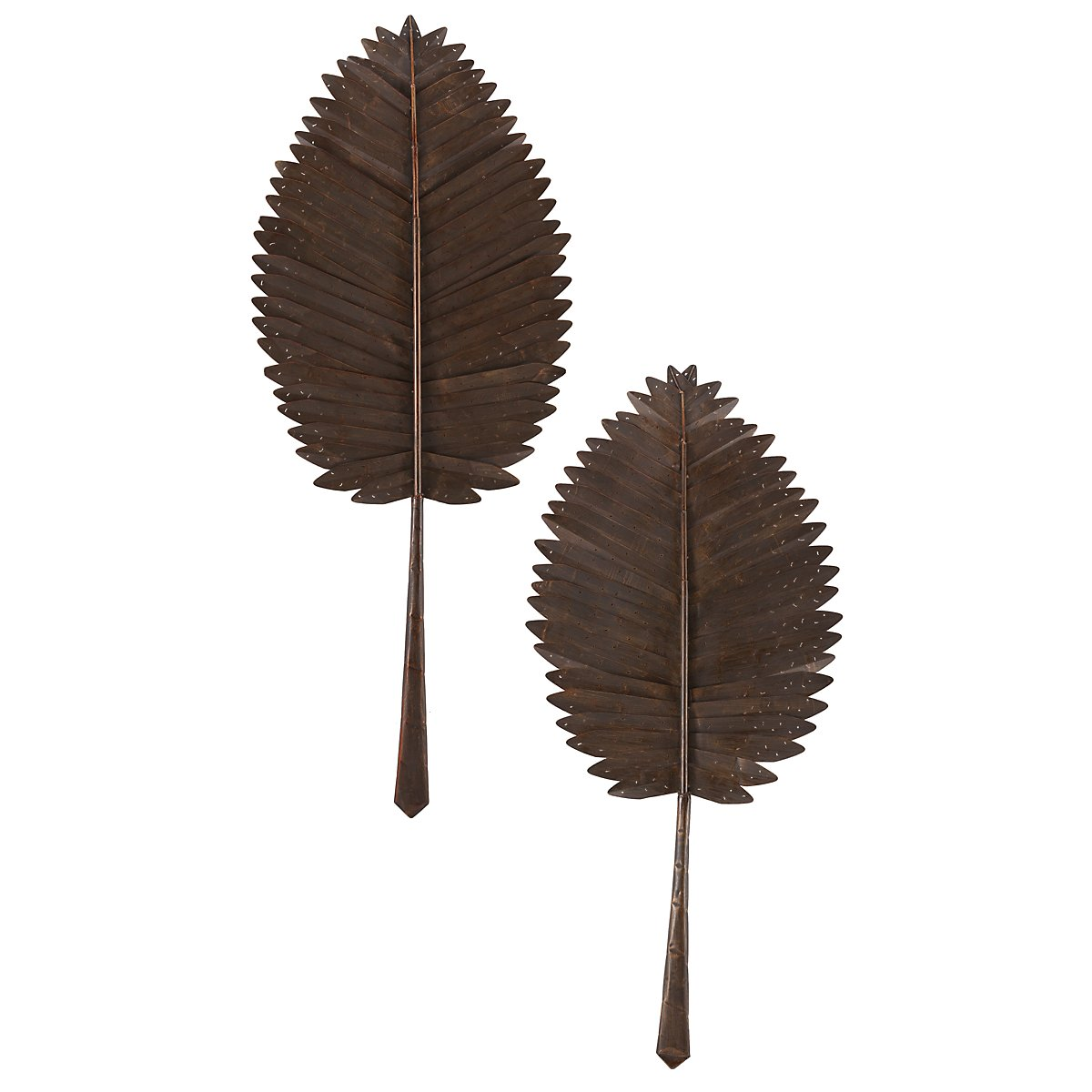 Leaves Set Of 2 Metal Wall Art