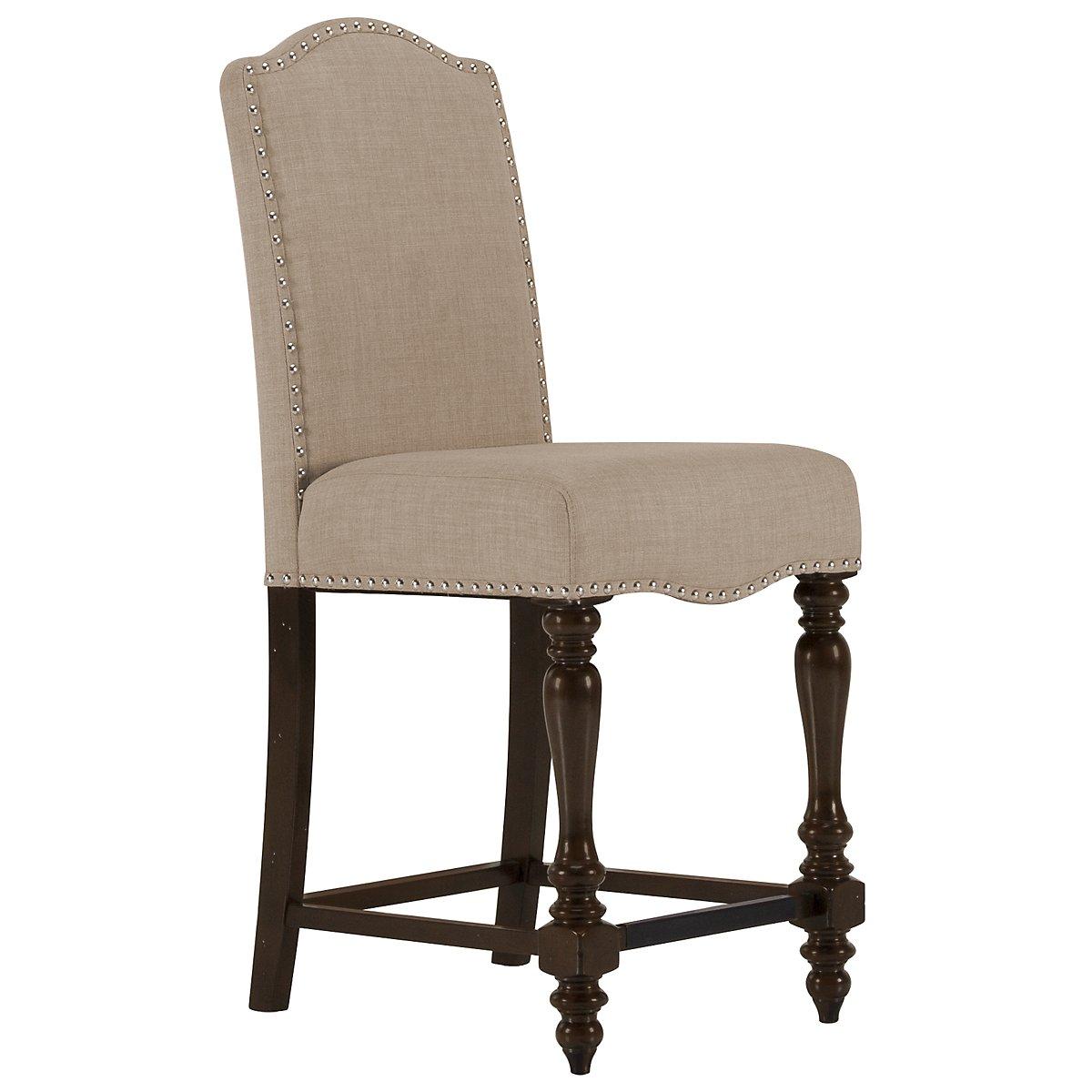 """Mcgregor Beige 24"""" Upholstered Barstool"""