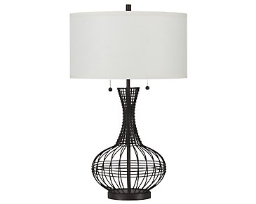 Ossining Dark Brown Table Lamp