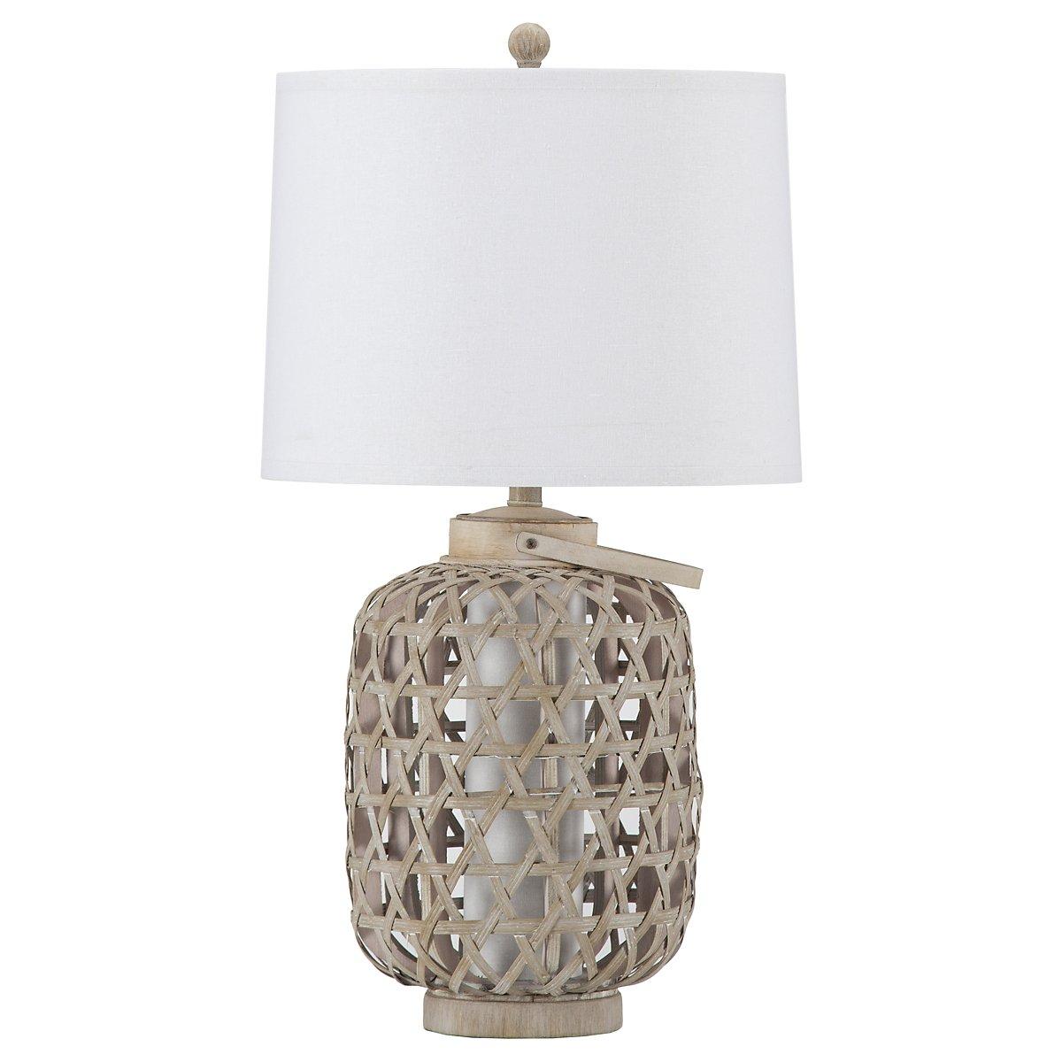Basket Light Beige Table Lamp