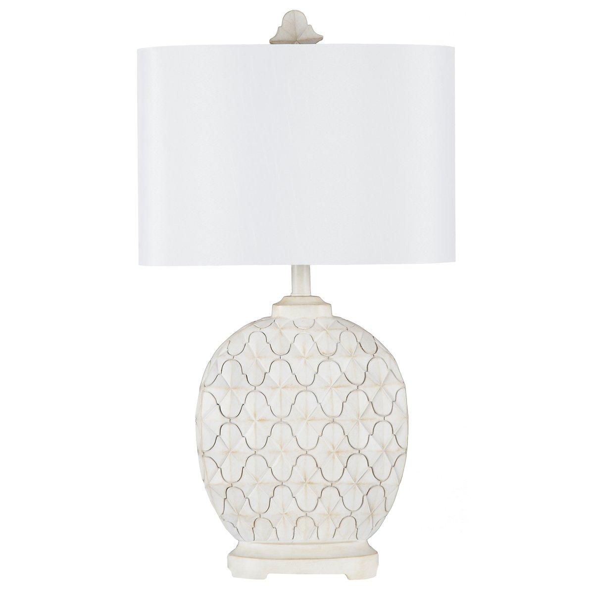 Alabaster White Table Lamp