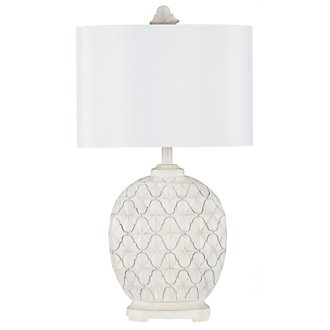 Alabaster White Table Lamp