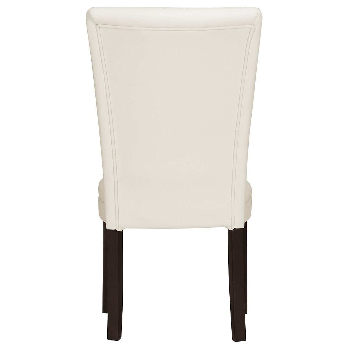 Delano White Bonded Leather Bonded Leather Side Chair
