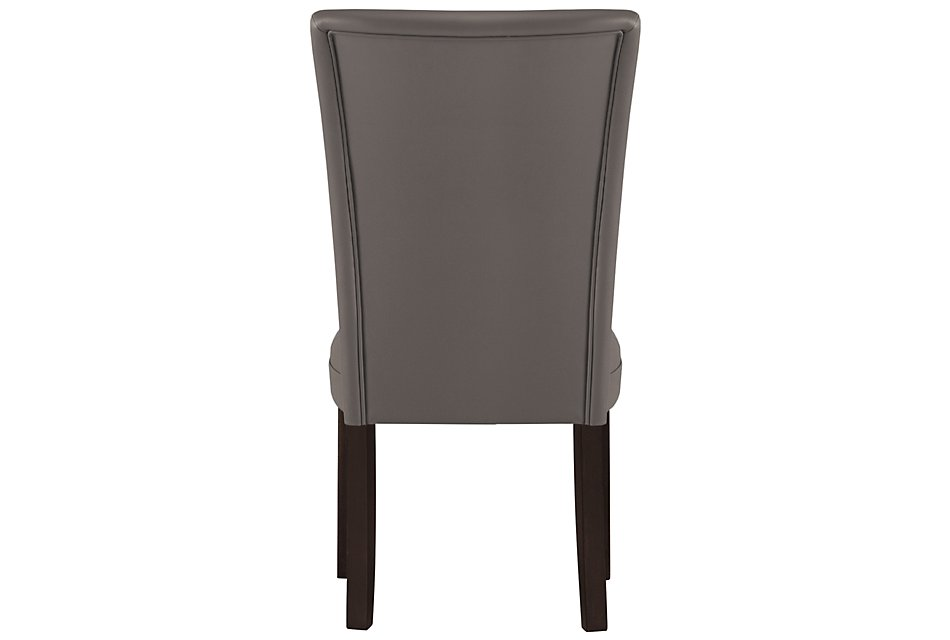 Delano Dark Gray   Bonded Leather Side Chair