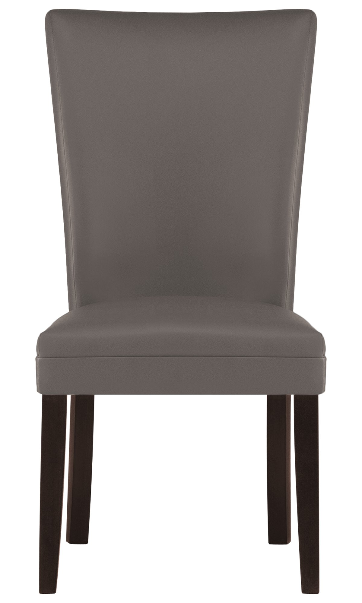 Delano Dark Gray Bonded Leather Bonded Leather Side Chair