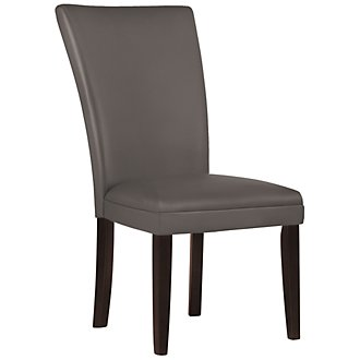 Delano Dark Gray Bonded Leather Side Chair