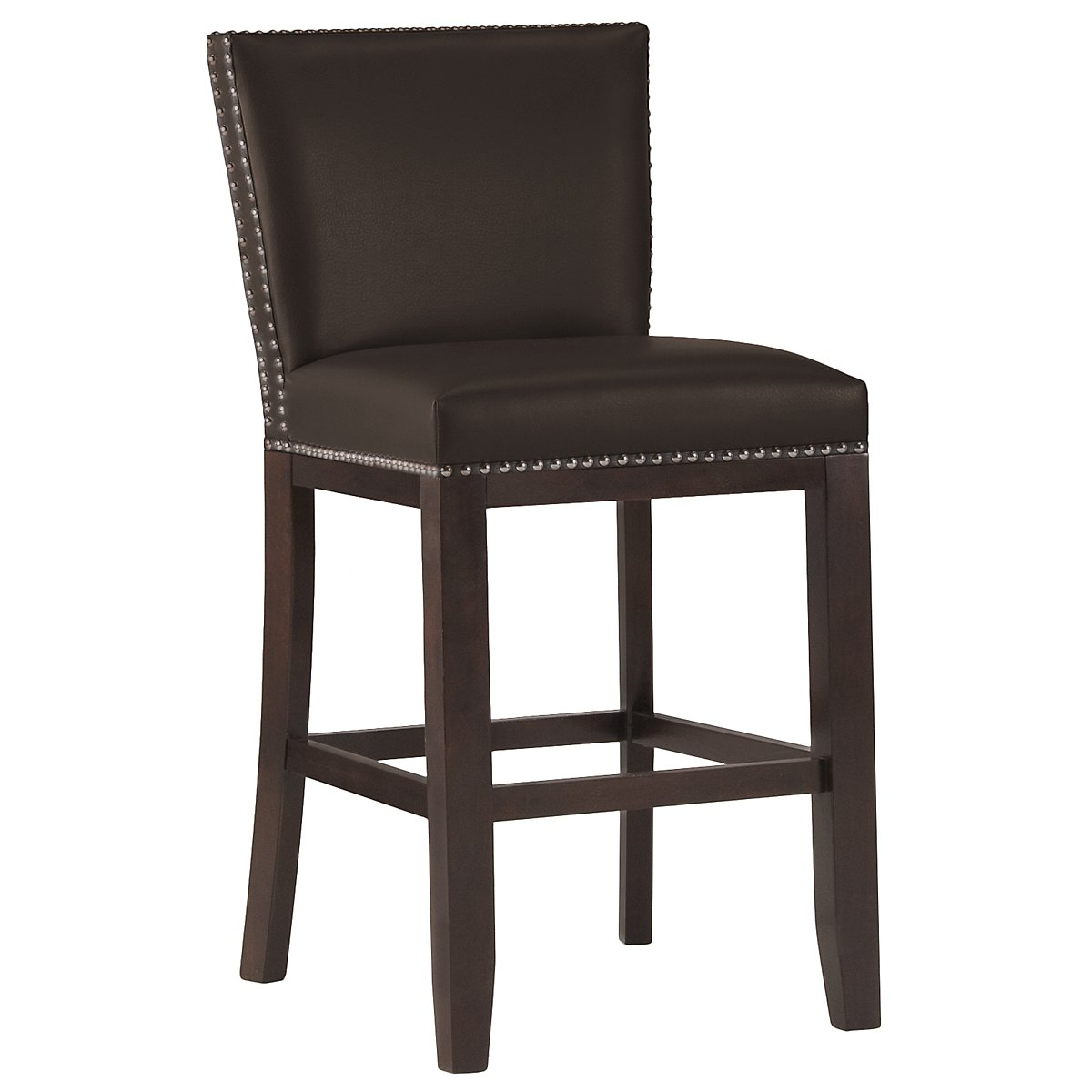 "Tiffany Dark Brown 24"" Bonded Leather Barstool"