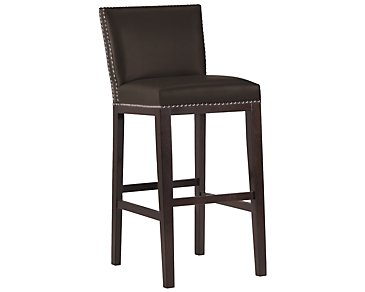 "Tiffany Dark Brown 30"" Bonded Leather Barstool"
