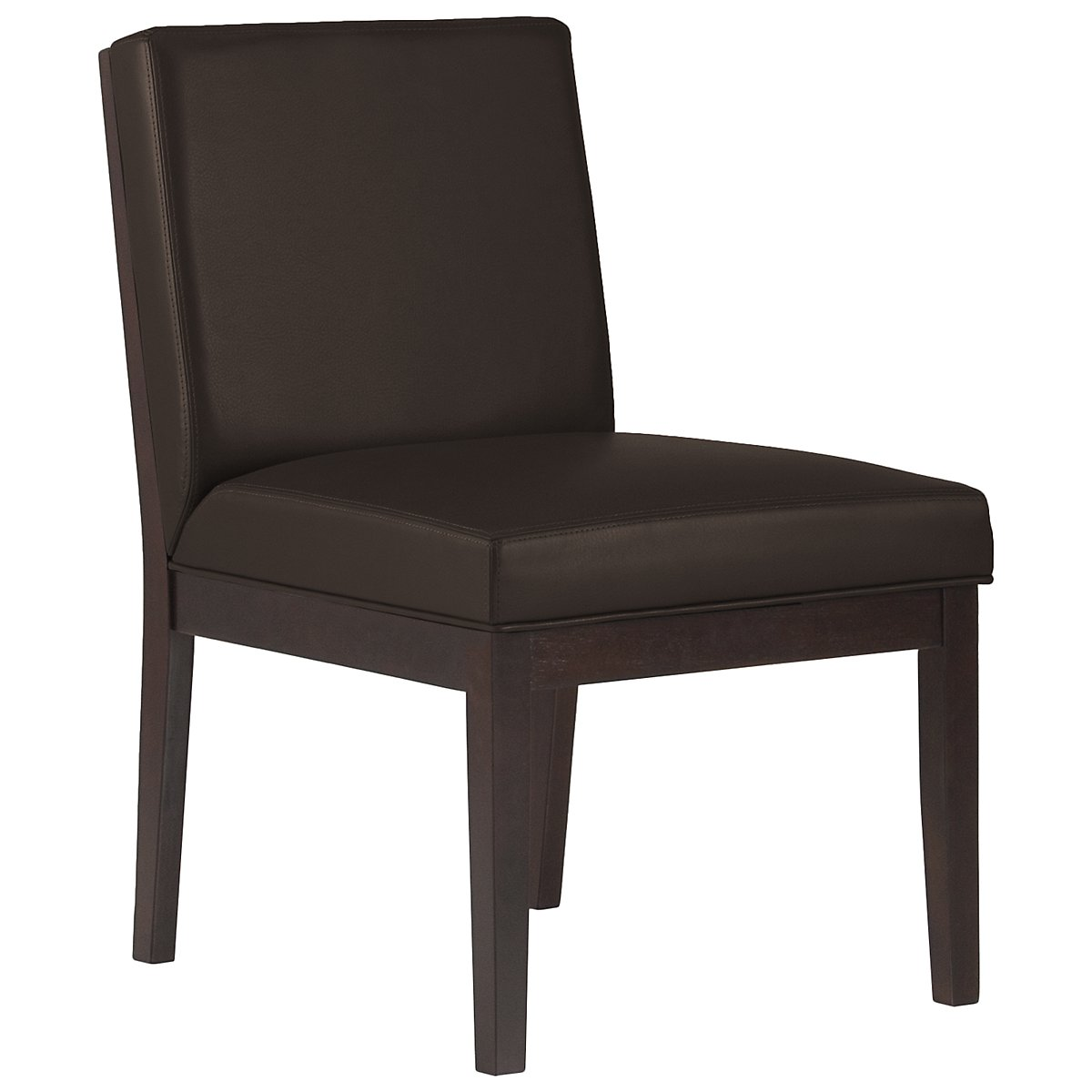 Emma Dark Brown Bonded Leather Side Chair