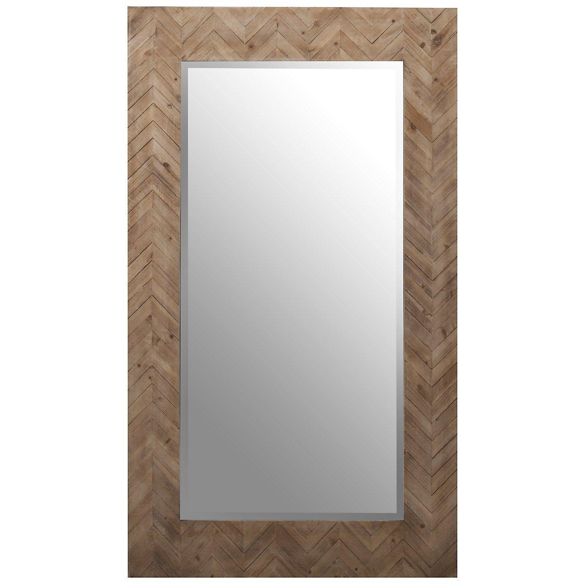 Demetria Wood Floor Mirror