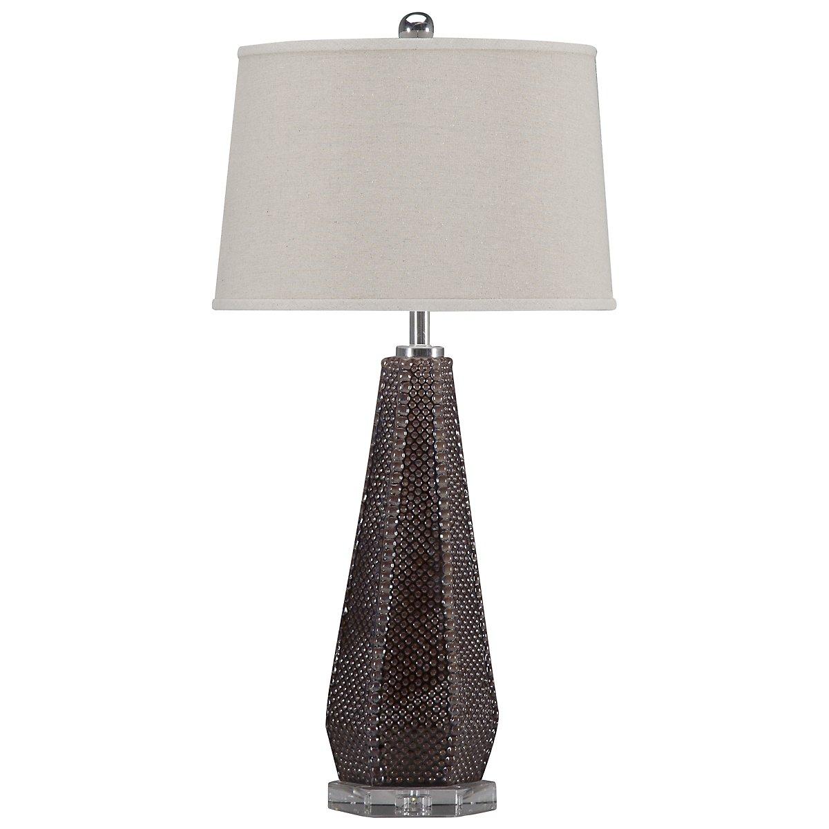 Pontius Dark Taupe Table Lamp