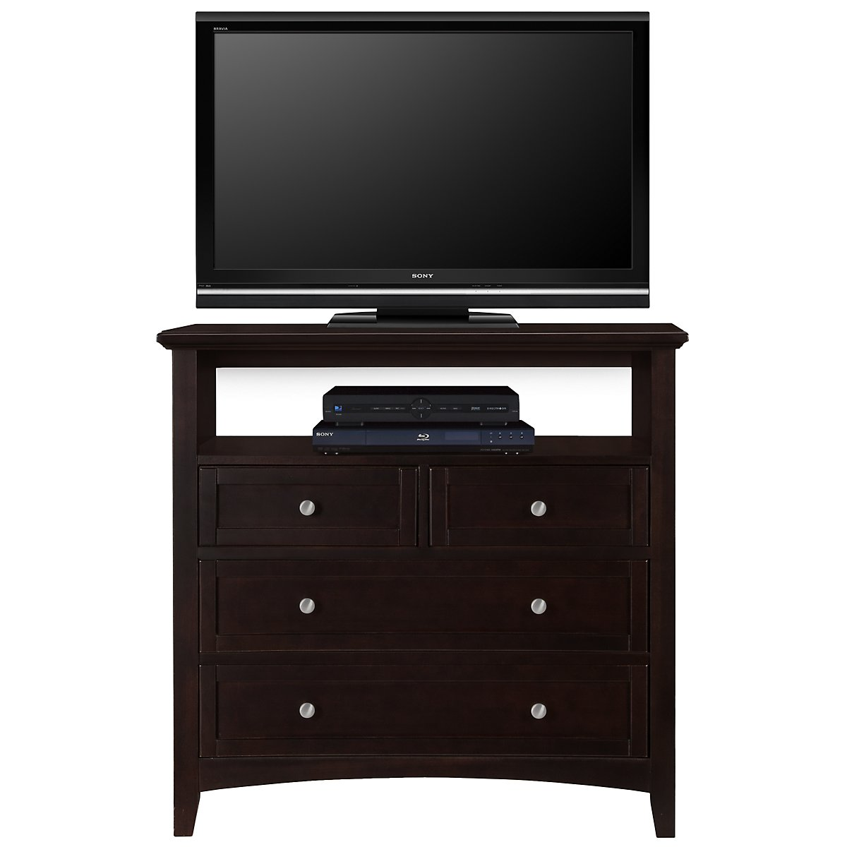 Captiva Dark Tone Media Chest