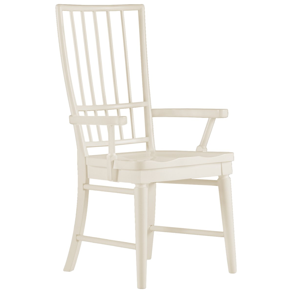 Carolina White Slat Arm Chair