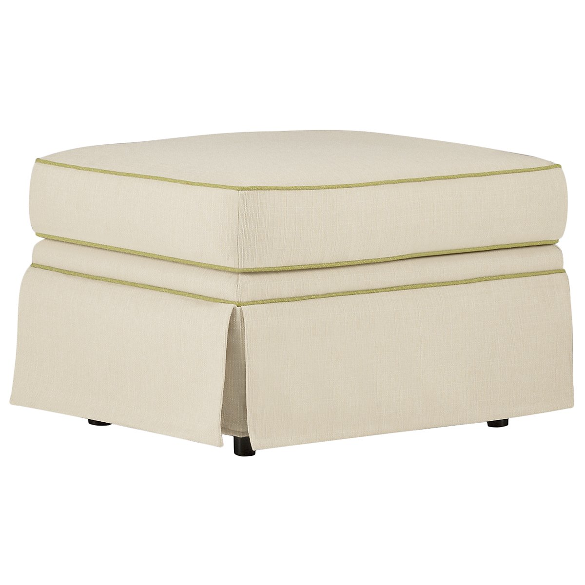 Holly Taupe Fabric Ottoman