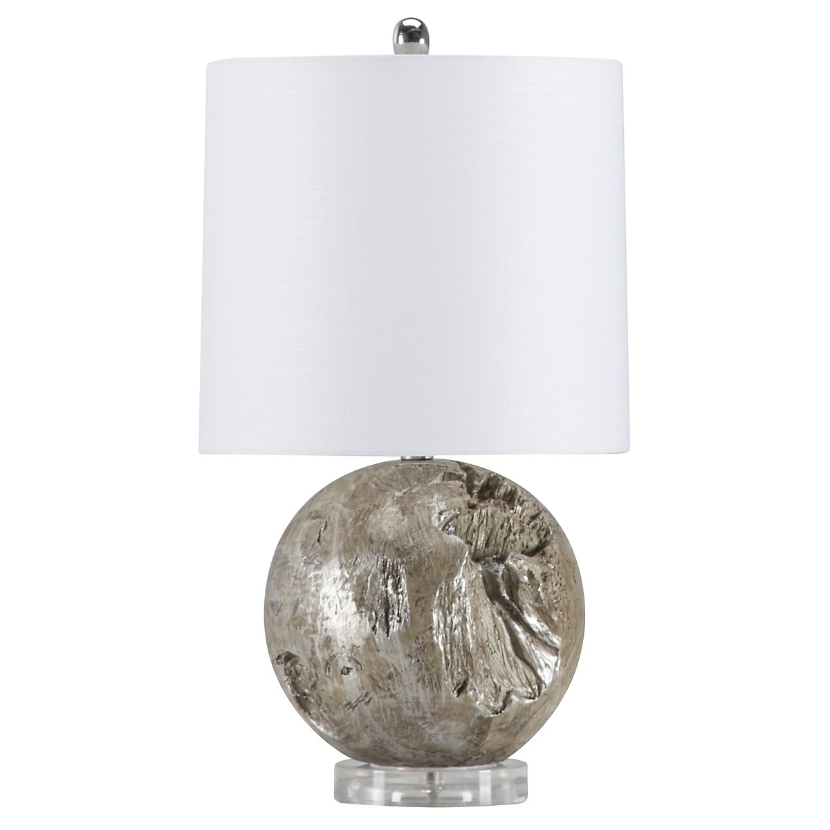 Fossil Gray Acrylic Table Lamp