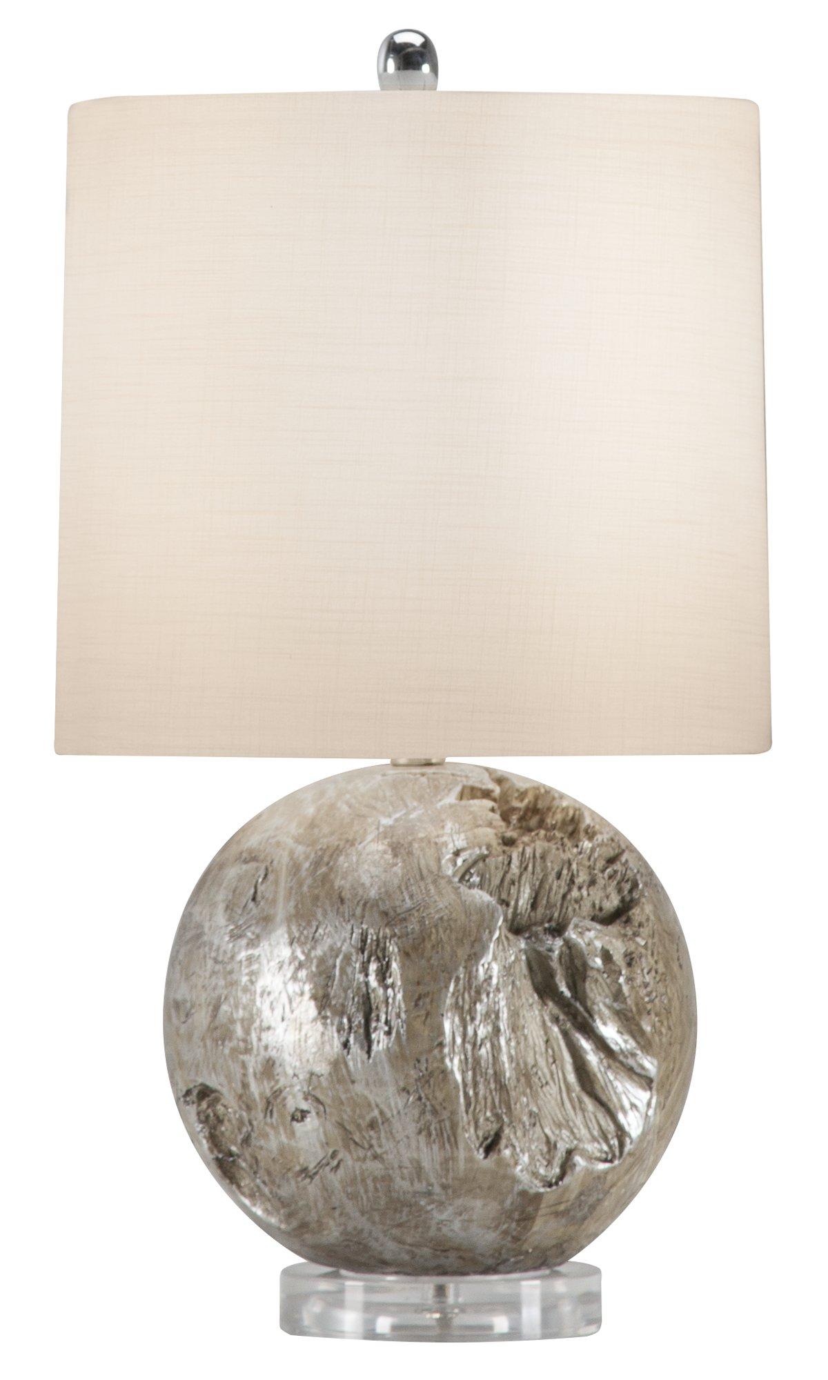 Fossil Gray Acrylic Table Lamp