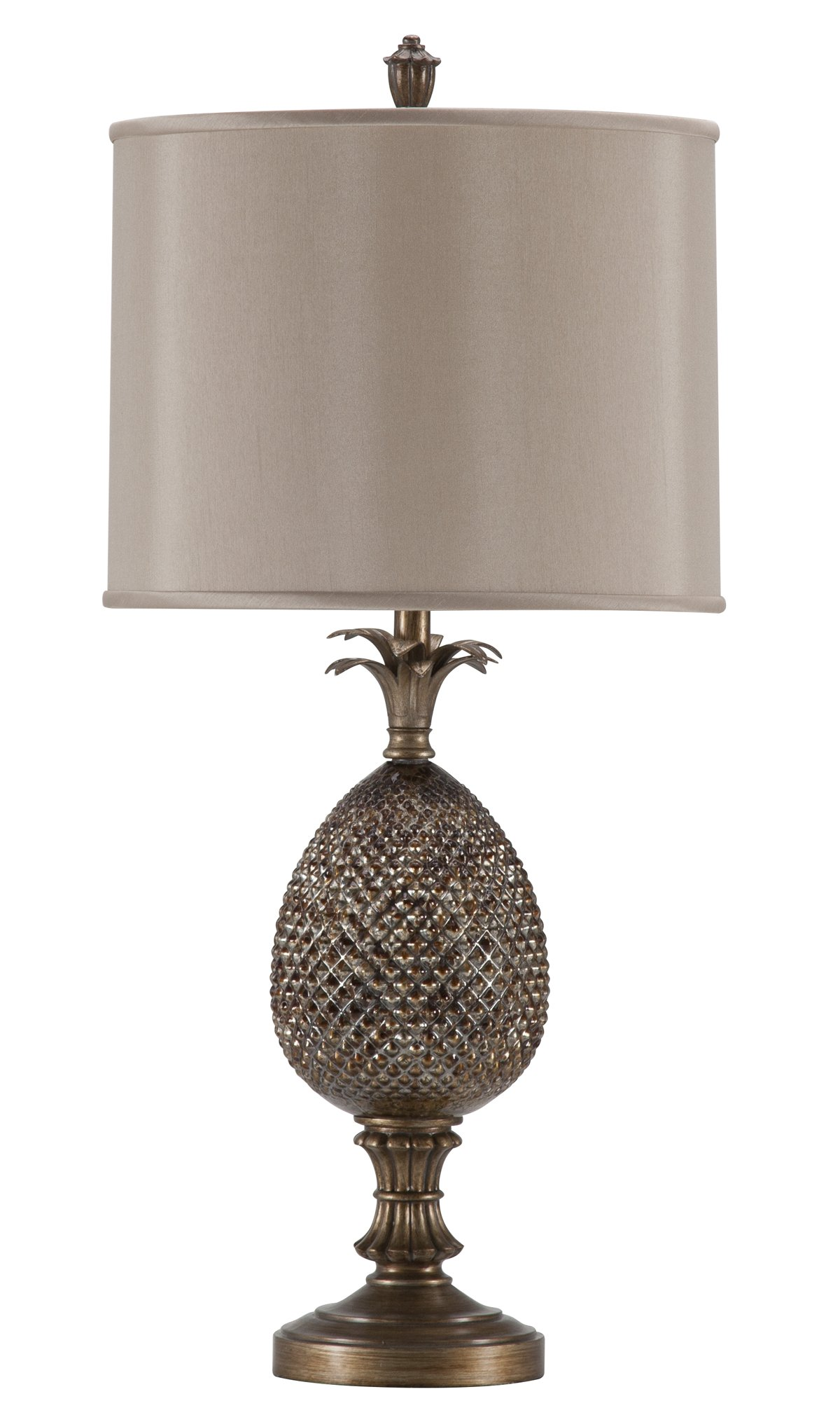 All glass dining room table - City Furniture Pineapple Bronze Table Lamp