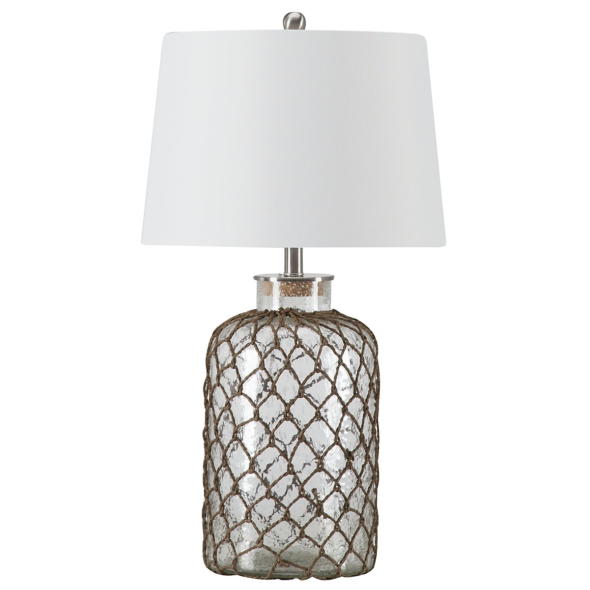 Seeded Clear Table Lamp