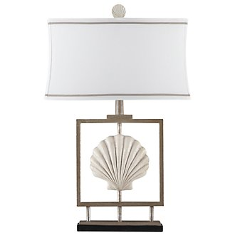 Seashell White Table Lamp