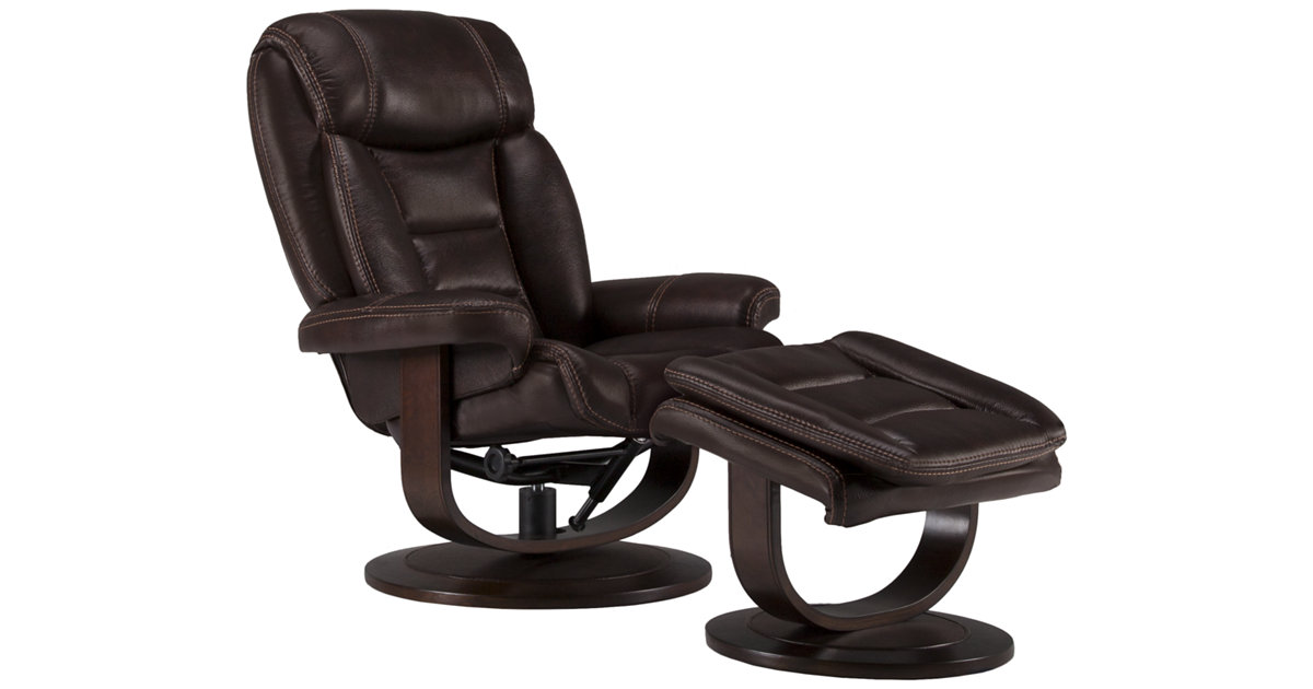 sc 1 st  City Furniture & City Furniture: Lina Dk Brown Microfiber Recliner u0026 Ottoman islam-shia.org