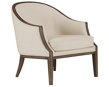 Kensie Beige Fabric Accent Chair