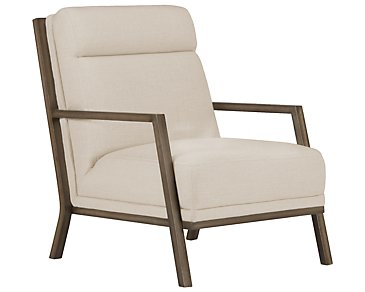 Brando Beige Fabric Accent Chair