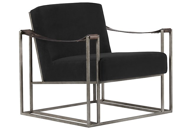 Dekker Black Fabric Accent Chair