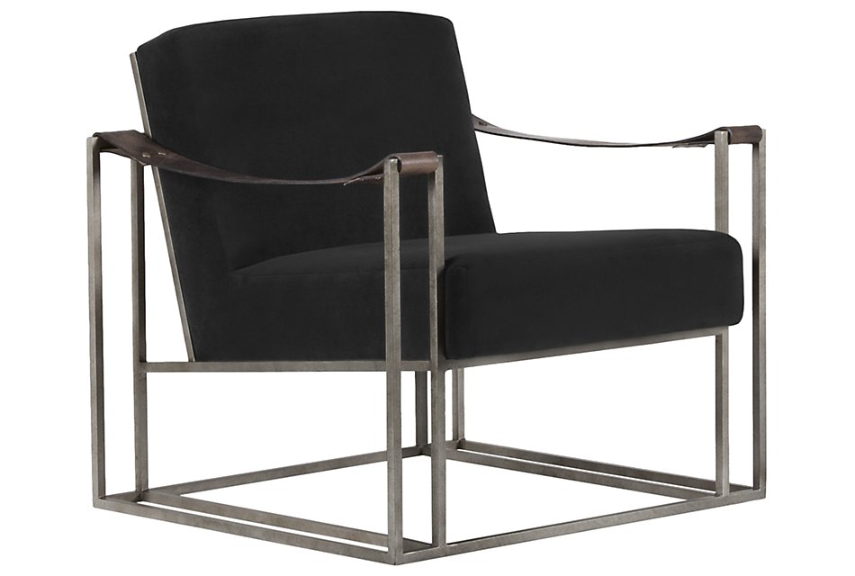 Dekker Black Fabric Accent Chair