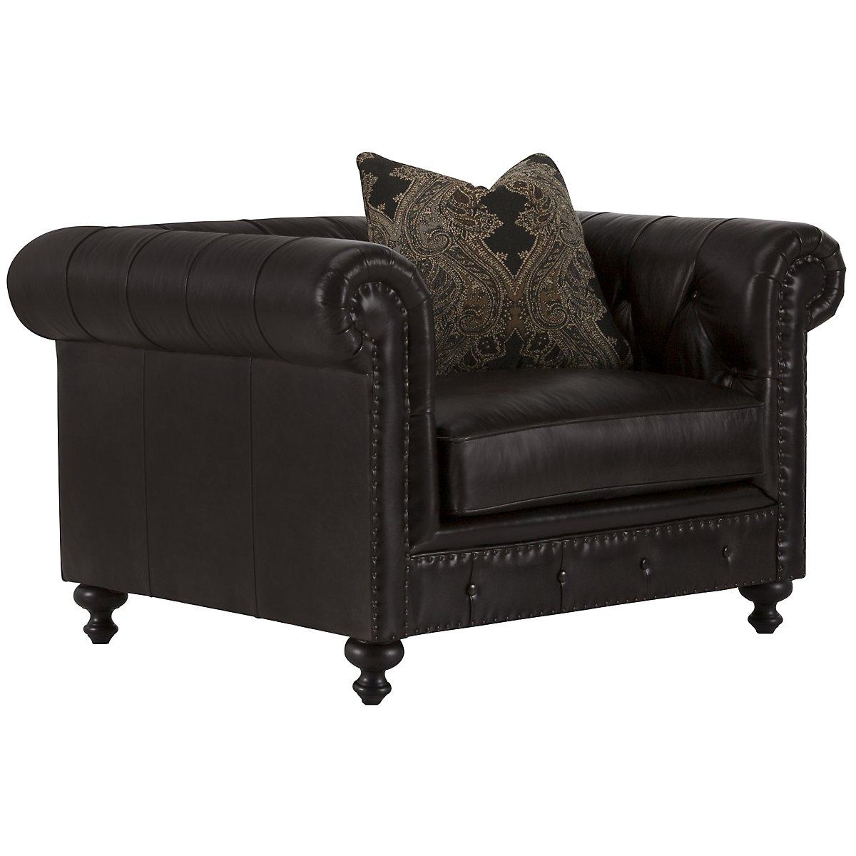 Riviera Dark Brown Leather Chair