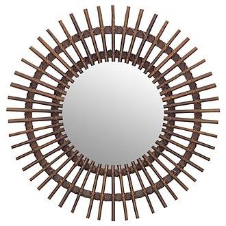 Taipan Brown Bamboo Mirror
