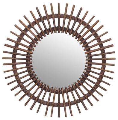 taipan brown bamboo mirror - Bamboo Mirror