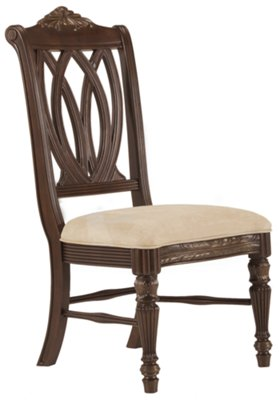 Tradewinds Dark Tone Glass Table U0026 4 Wood Chairs